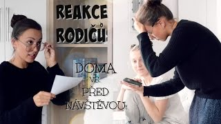 REAKCE RODIČŮ DOMA VS. PŘED NÁVŠTĚVOU | Sketch w/ Andy Coconut