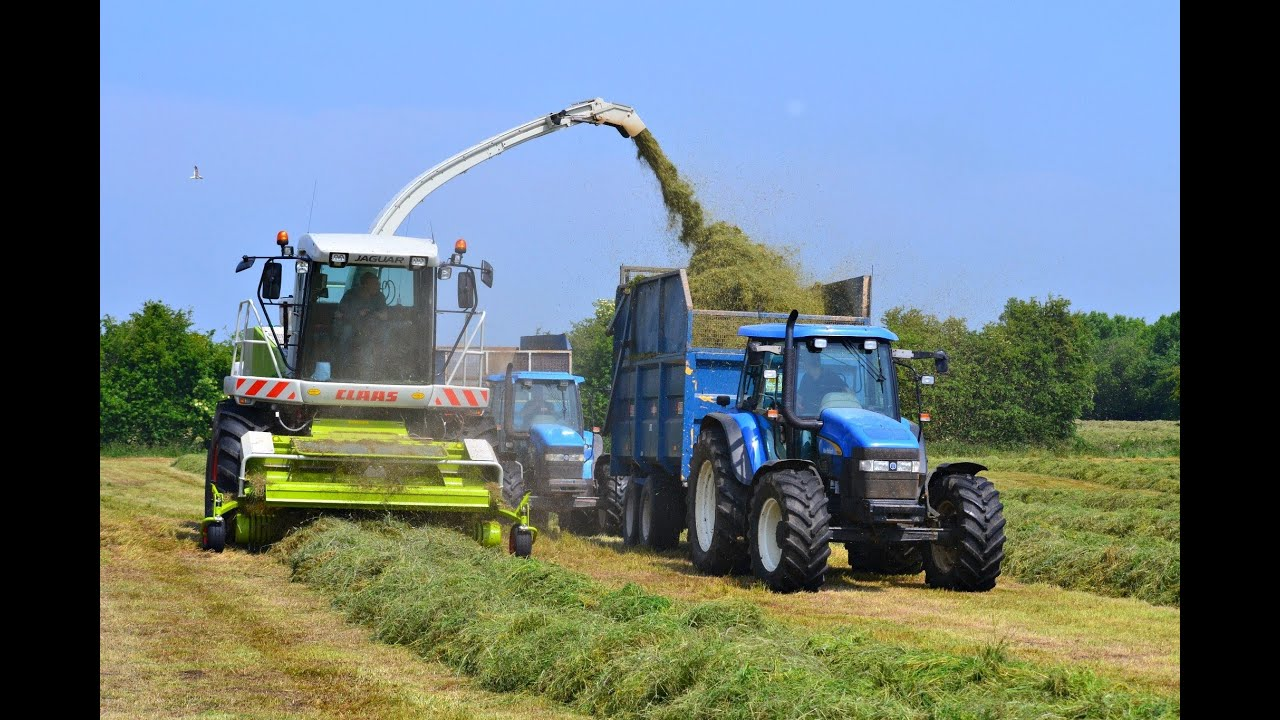 New Holland Tractor People : Silage claas jaguar tractors hauling youtube