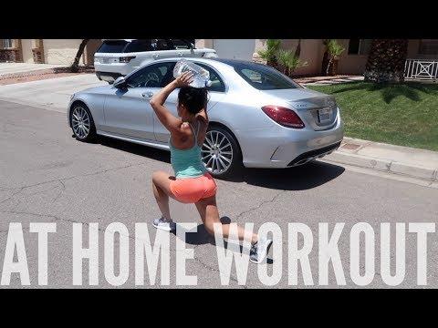 AT HOME WORKOUT | DAY W/THE GIRLS | Bikini prep vlog #26