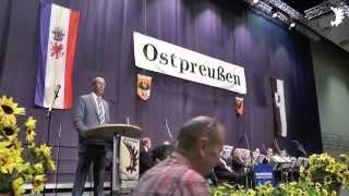 Peter Stein, MdB (CDU): Grußwort beim 19. Landestreffen der Ostpreußen in Mecklenburg-Vorpommern
