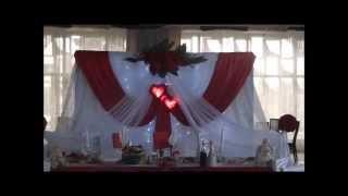 Оформление украшение свадебного зала в Минске, украшение зала на свадьбу.