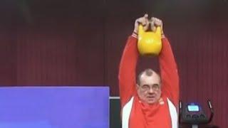 Рывковая протяжка гири как упражнение для разминки от Сергея Мишина