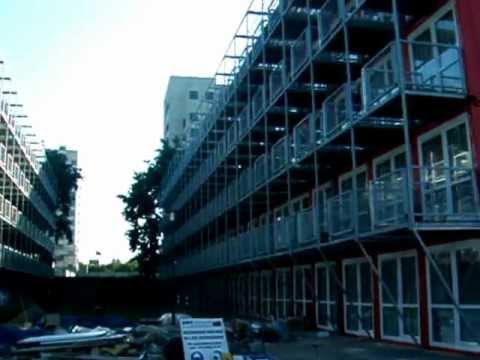 Amsterdam High Rise Shipping Container Housing Complex YouTube