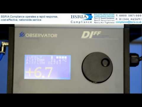BSRIA Compliance - Part F Ventilation measurement techniques