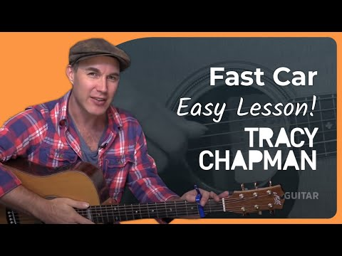 Fast Car - Tracy Chapman - Easy Beginner Acoustic Guitar Lesson (BS-802) How to play guitar