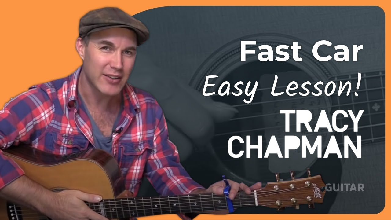 Fast car tracy chapman easy beginner acoustic guitar lesson bs 802 how to play guitar justinguitar songs