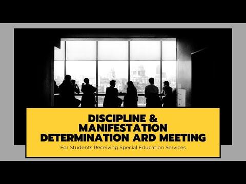 Special Education Discipline and Manifestation Determination