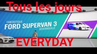 Avoir Ford Transit Supervan 3 Tous les jours Fh4 how to get Supervan 3 Everyday Forza Horizon 4