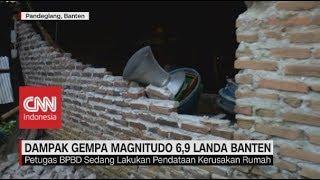 Kondisi Pasca Gempa Banten, 110 Rumah Rusak Akibat Gempa