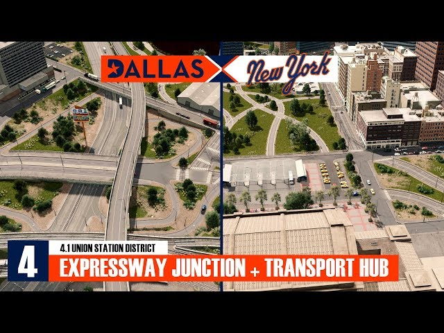 Union Station District: Expressway junction + transport hub [Cities: Skylines Series Ep. 4.1]
