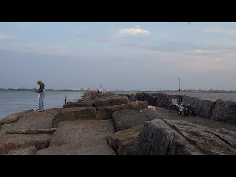 Fishing The Rocks / Quintana Jetty / Freeport TX
