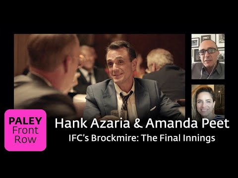 IFC's Brockmire: The Final Innings--Hank Azaria And Amanda Peet At Paley Front Row 2020