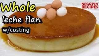 Step by Step on How to Make Whole Egg Leche Flan - Baked & Steamed Whole Egg Leche Flan