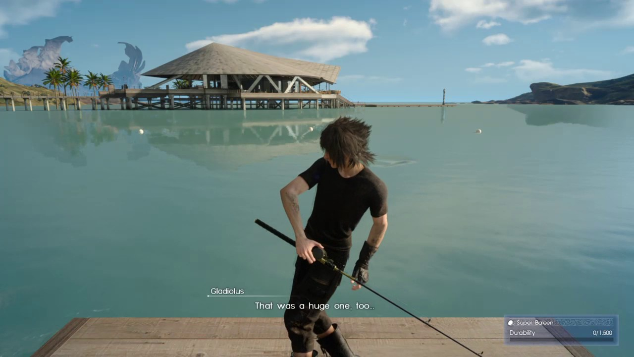 Final fantasy xv fishing with noctis youtube for Final fantasy 15 fishing