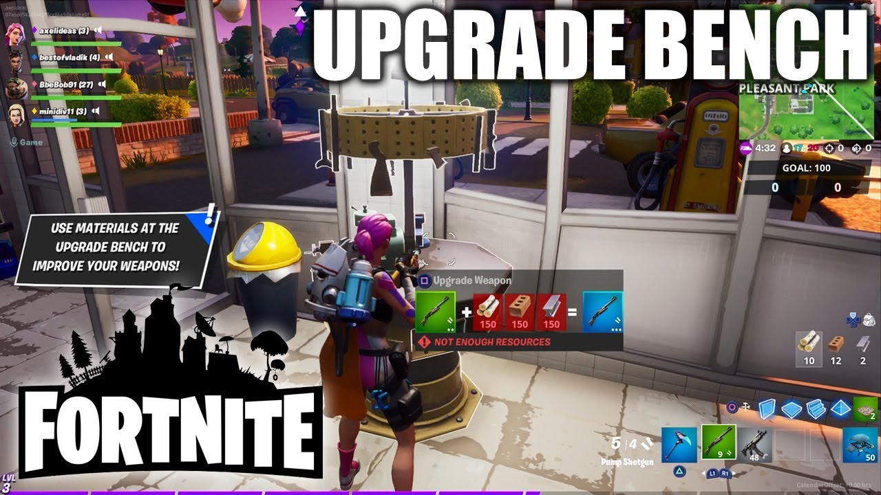 Fortnite Upgrade Bench Location & How to Use - YouTube