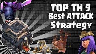 Top Best TH9 Attack Strategy 2018! Pick Your Favorite Troops Combo & Smash TH9 war Bases