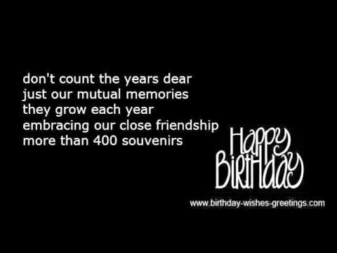 Happy 40th birthday wishes and funny poems youtube happy 40th birthday wishes and funny poems m4hsunfo