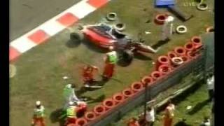 Heavy crash Jos Verstappen Grand Prix Belgium Spa-Francorchamp