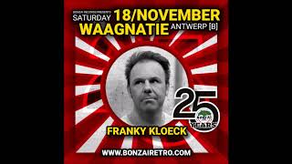 25 years Bonzai Franky Kloeck playing in Antwerp at