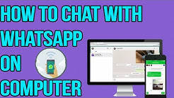 How To Chat With Whatsapp On Your Laptop Or Computer!!!No Bluestack Or Any Software!!!2016