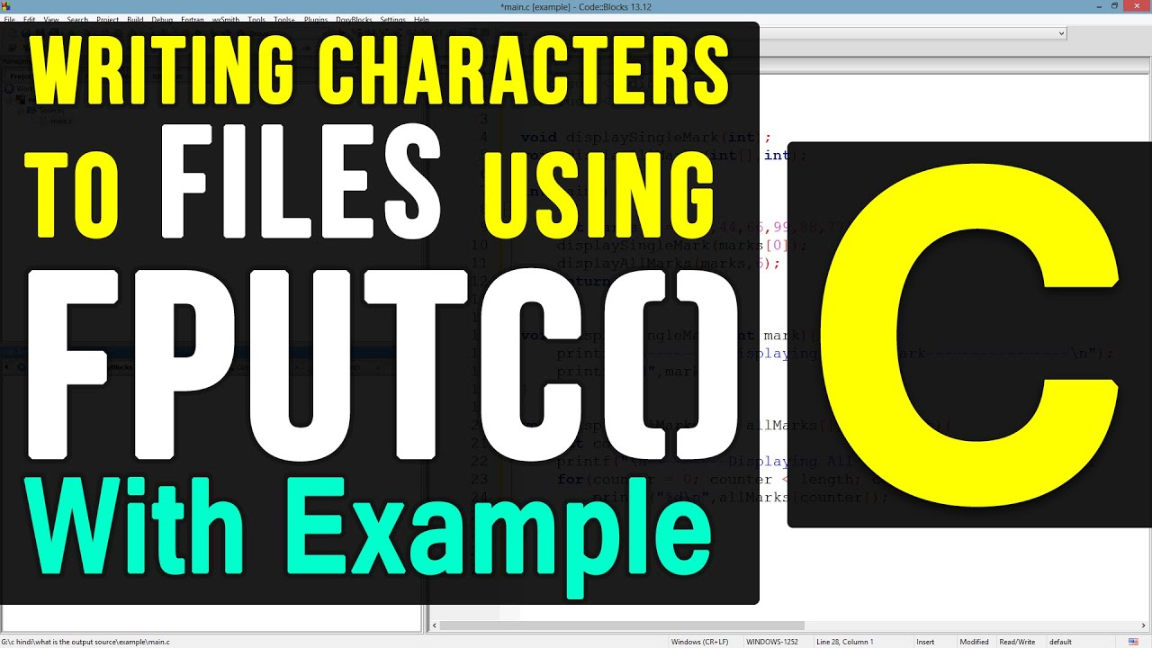 Fputc function with files in c programming language video tutorial fputc function with files in c programming language video tutorial youtube baditri Gallery