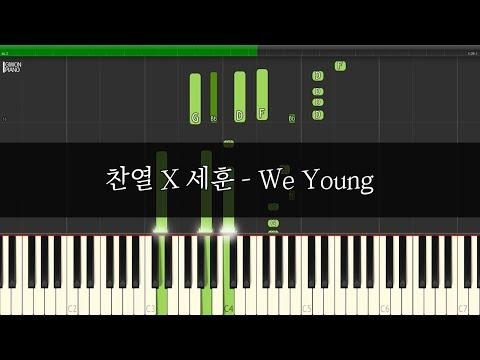 EXO CHANYEOL X SEHUN 엑소 찬열X세훈 - We Young 1절 배우기  신기원 피아노 튜토리얼 Piano Tutorial