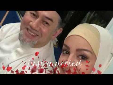 just merried, king of Malaysia Raja Muhammad V and Oksana Voevodina miss universe Moscow, Russia.