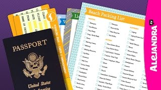 How to Pack Travel Documents