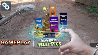 ANGRY BIRDS AR ISLAND OF PIGS GAMEPLAY - GALAXY A30