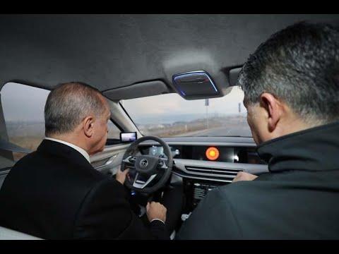 Cumhurbaşkanı Erdoğan Yerli Otomobili İle Test Sürüşü Yaptı, İşte O Anlar..