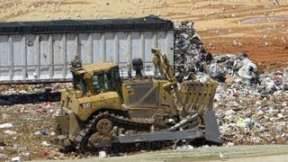 GO BEHIND THE SCENES OF A GARBAGE DUMP LANDFILL AND SEE IT ALL IN HD