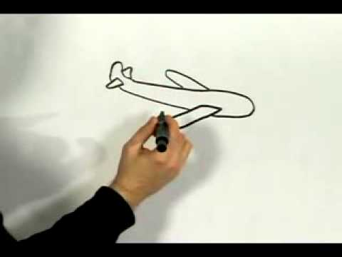 Easy Cartoon Drawing How To Draw A Cartoon Airplane Youtube