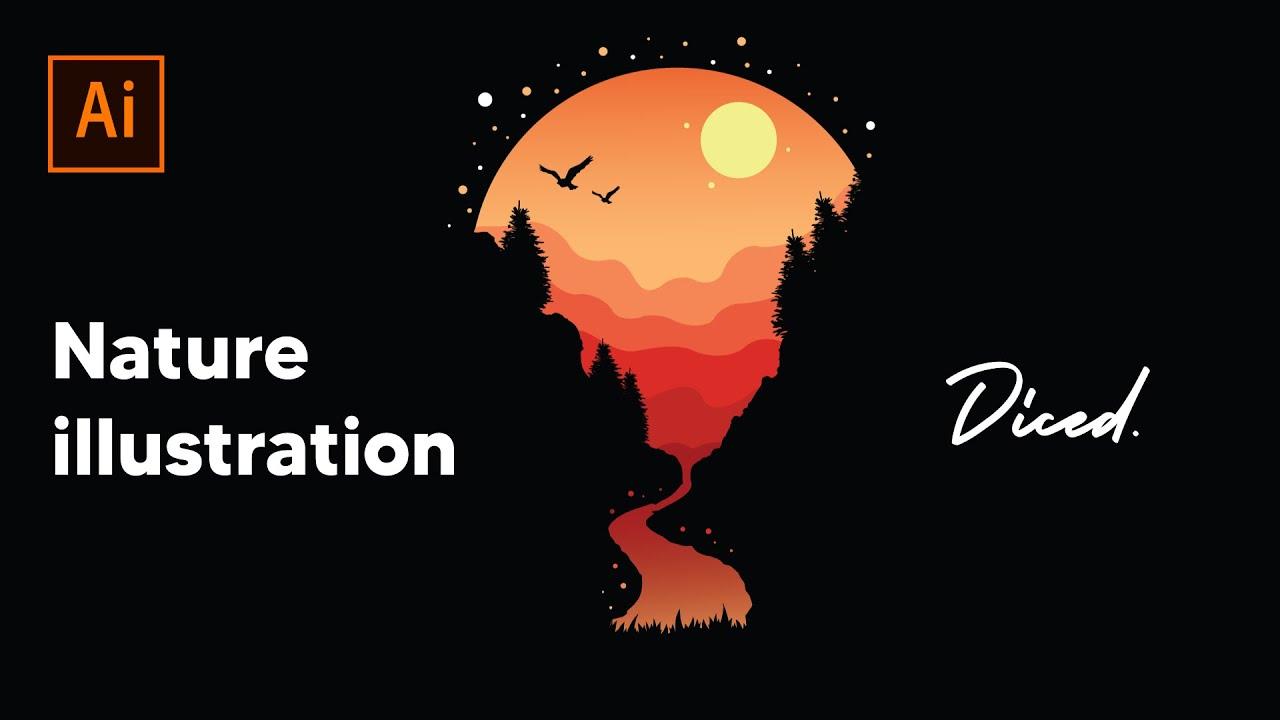 Nature Illustration   Diced