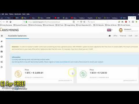 (AWS Mining) How Does Bitcoin Mining Work - How To Withdraw $200 In BitCoin FAST!