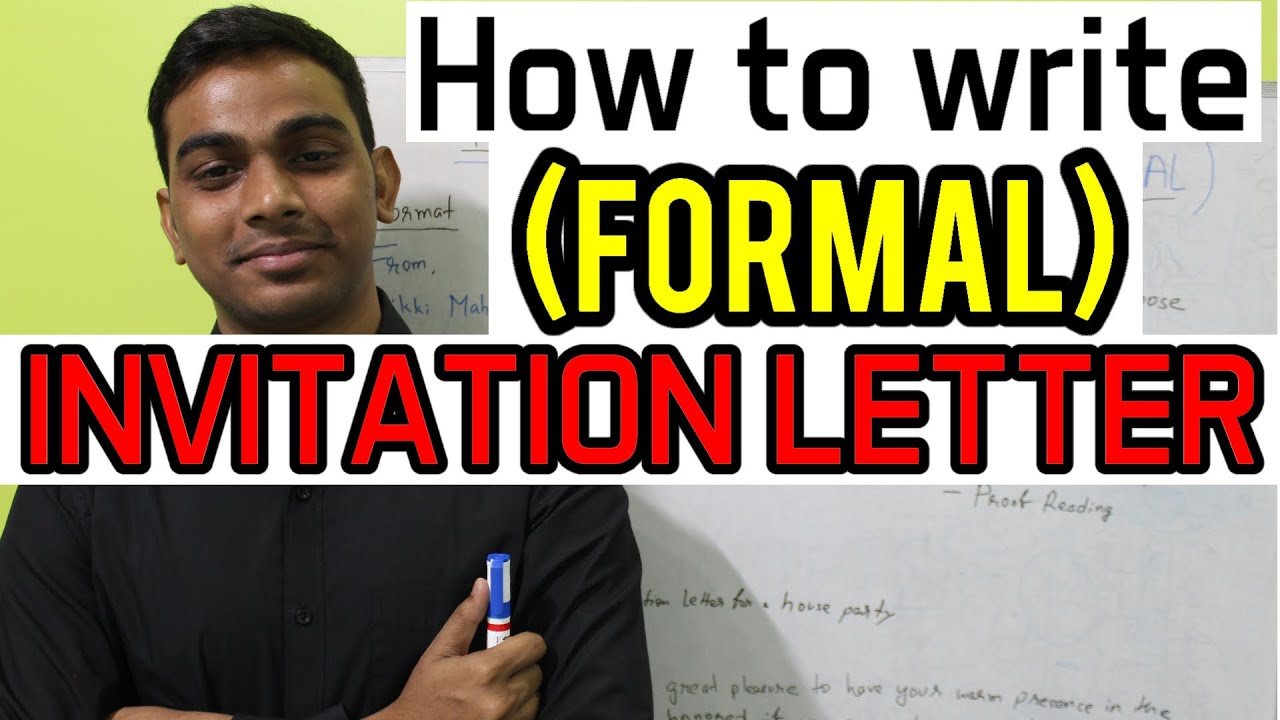 How to write (FORMAL) INVITATION LETTER