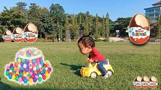 Ball pit Balls and Giant Kinder Egg Hunt