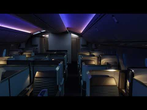 Gulf Air Dreamliner B787 interior designed by tangerine