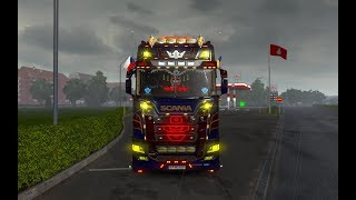 [ETS2 v1.34]Euro Truck Simulator 2 Tuning mod New Scania R/S