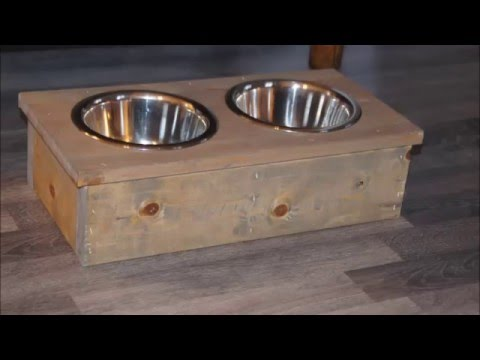 Diy How to make a dog bowl stand - YouTube