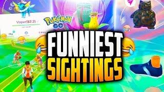 Pokemon Go - The Top 5 FUNNIEST Pokemon Go Sightings! (HILARIOUS POKESTOPS + FAILS!)