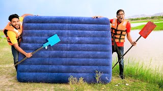 Can We Swim &amp Sleep Using an Air Mattress In Water? कय य जगड़ कम करग? Awesome Results