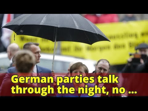 German parties talk through the night, no end in sight