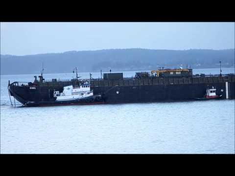 petroleum barge Rigel in Possession Sound in Everett, WA 02/13/14
