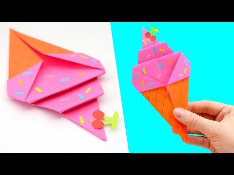 Как сделать мороженое из бумаги своими руками