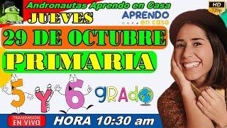 ⚡ APRENDO EN CASA PRIMARIA 5 y 6 GRADO ???? JUEVES 29 DE OCTUBRE TV PERÚ