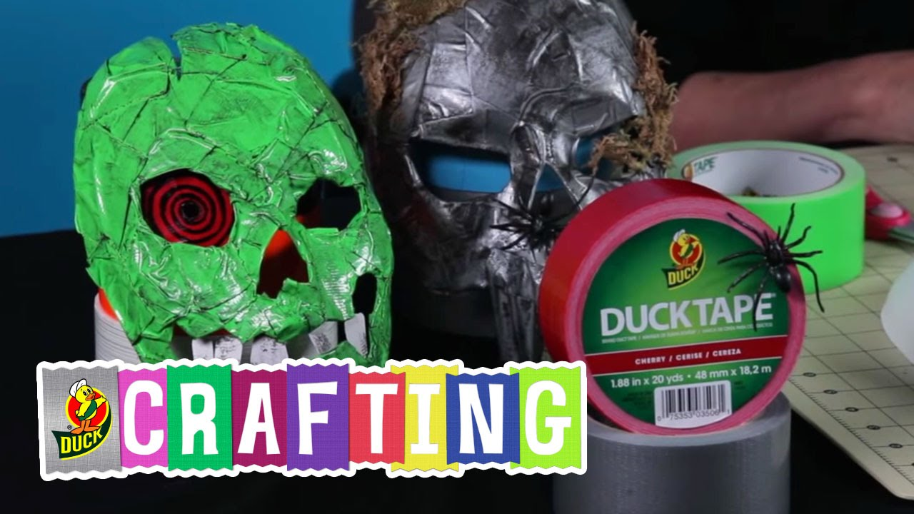 How to Craft a Duct Tape Halloween Mask - YouTube