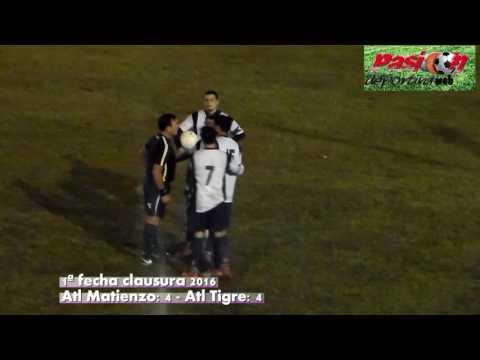 goles matienzo vs tigre 1ª clausura 2016