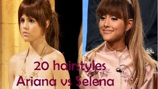 20 hair styles Who wore it better?  Ariana vs Selena