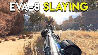 Slaying With The EVA-8 Auto! - Apex Legends