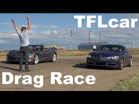 2015 Chevy Corvette Vs BMW Alpina B6 XDrive Gran Coupe Drag Race: Beauty Vs Brawn